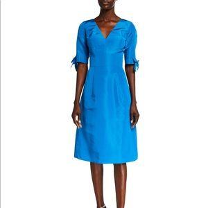 Carolina Herrera 1/2 Sleeve Silk Faille Dress 16